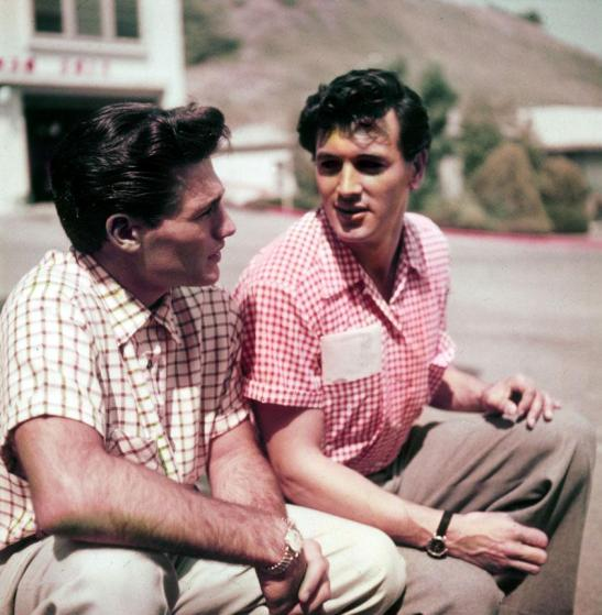 Rock-Hudson-and-Richard-Long-candid-one