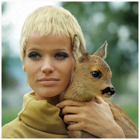 veruschka-with-a-few-fake-freckles-wearing-a-short-blond-wig-by-alba-of-alba-and-francesca-holding-a-baby-doe-franco-rubartelli-1967